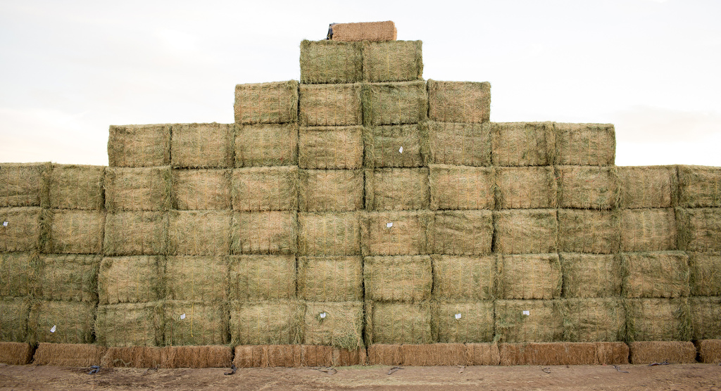 Triple I hay stack, Holtville, California